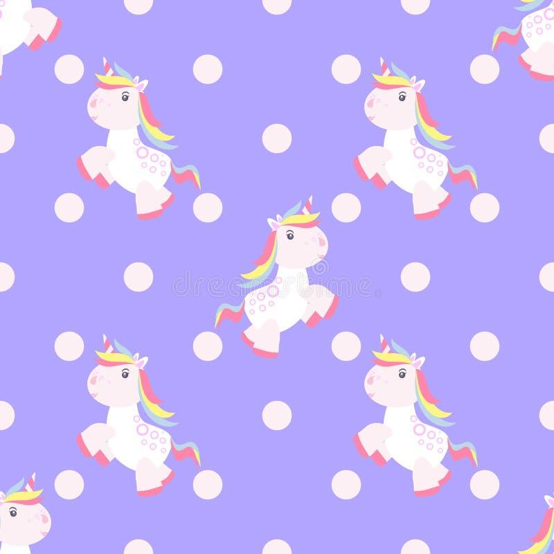 De leuke magische baby van het eenhoornpatroon royalty-vrije illustratie