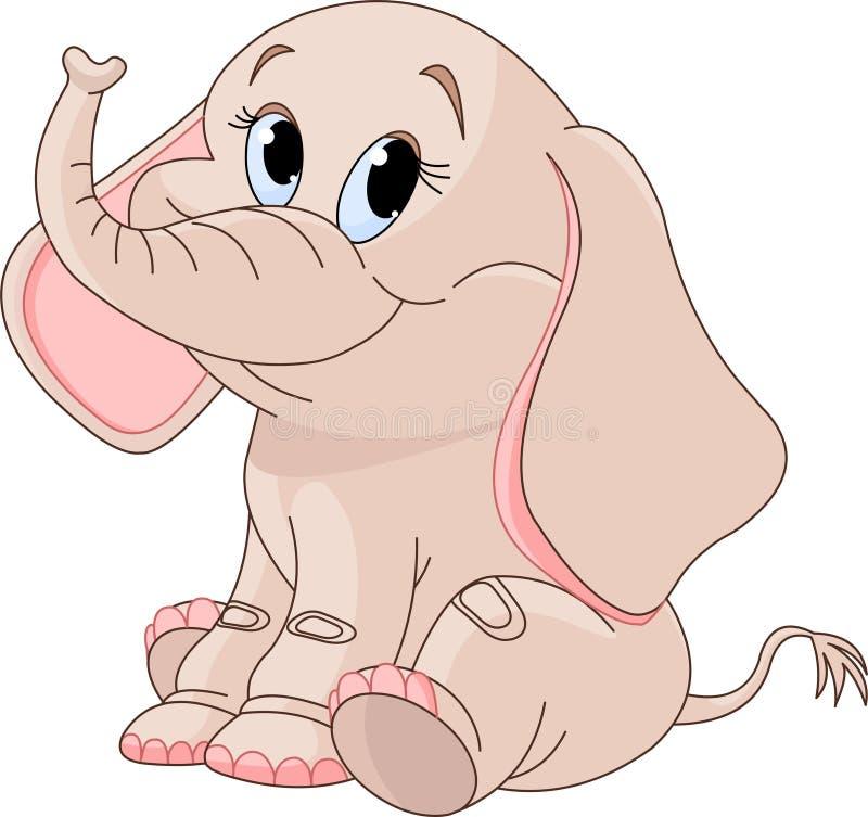 De leuke olifant van de Baby royalty-vrije illustratie