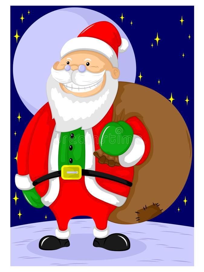 De leuke oude grootvader gekostumeerde Kerstman royalty-vrije illustratie