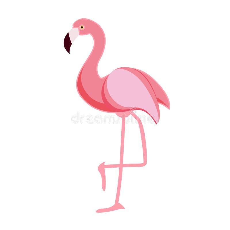 De leuke Roze Vectorillustratie van het Flamingopictogram