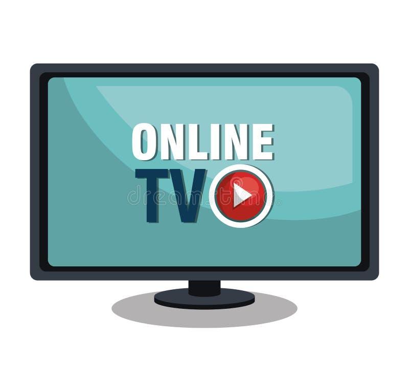De levende stroom van TV royalty-vrije illustratie