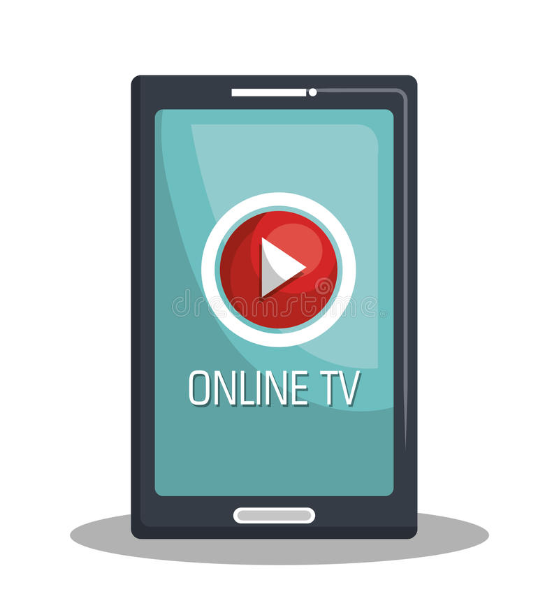 De levende stroom van TV stock illustratie