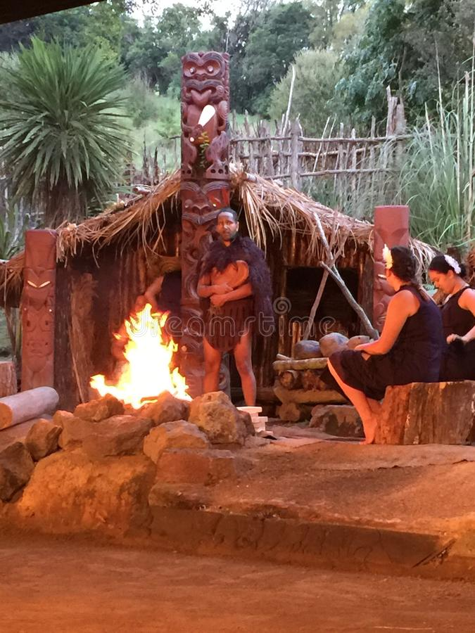 De levensstijl van de Maoristrijder stock foto's