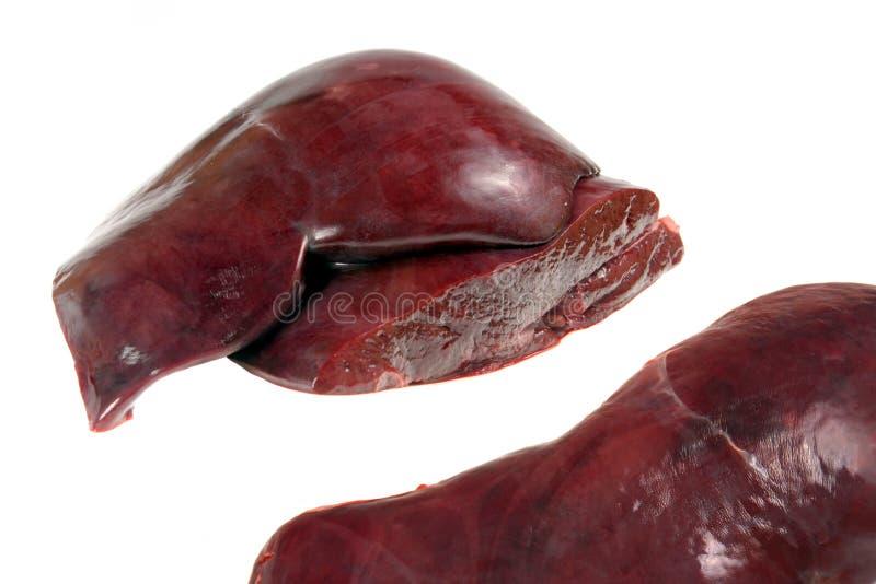 De lever van het kalfsvlees stock foto's