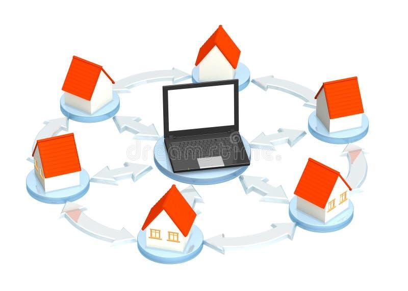 De leverancier van Internet stock illustratie