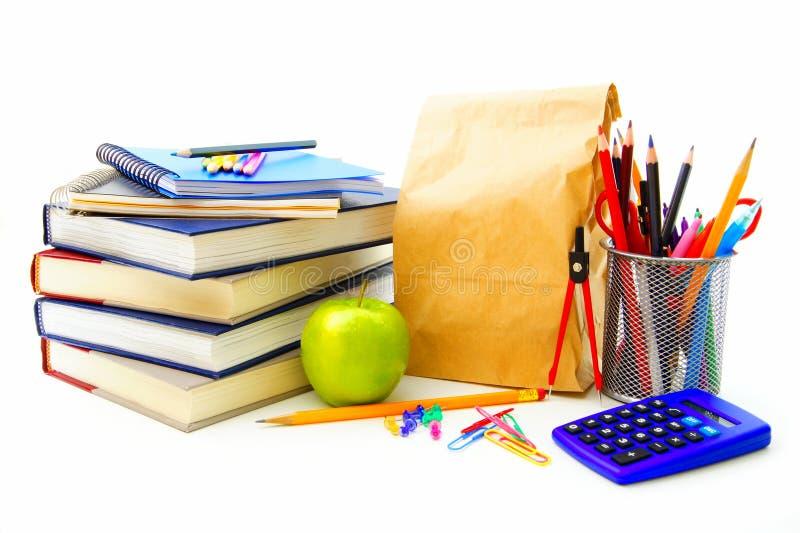 De levering van de school stock afbeeldingen