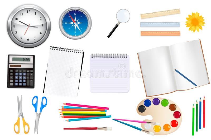 De levering van de school en van het bureau. stock illustratie