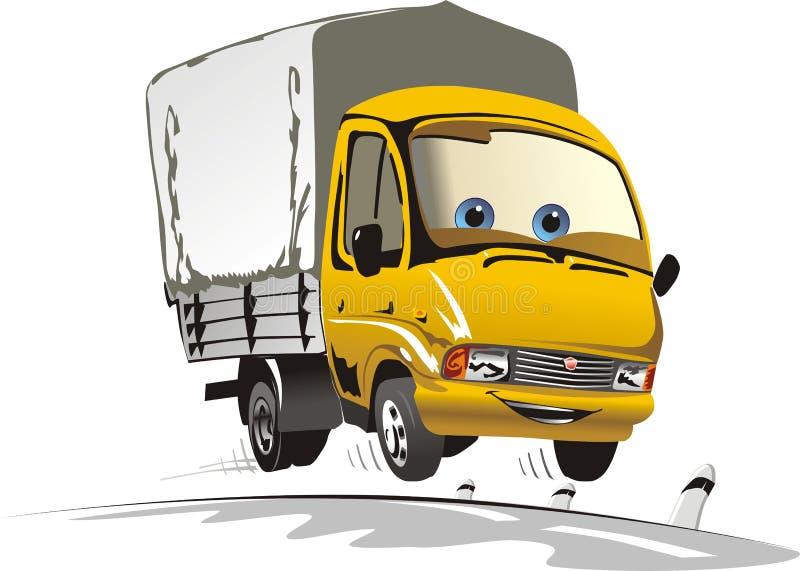 De levering van het beeldverhaal/ladingsvrachtwagen royalty-vrije illustratie