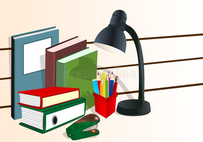 De levering van het bureau, cdr vector stock illustratie