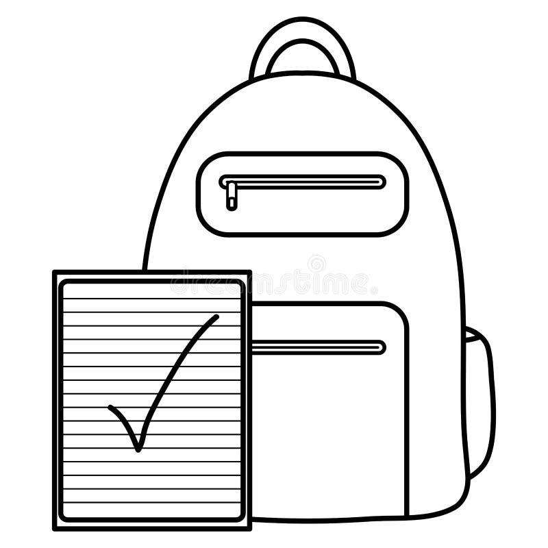 De levering van de notitieboekjeschool met schooltas vector illustratie