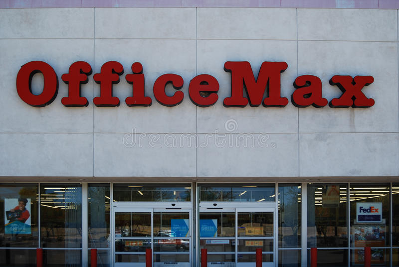 De leveringsketen van het OfficeMaxbureau royalty-vrije stock foto
