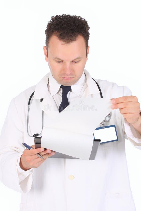 De lezing van de arts stock foto's