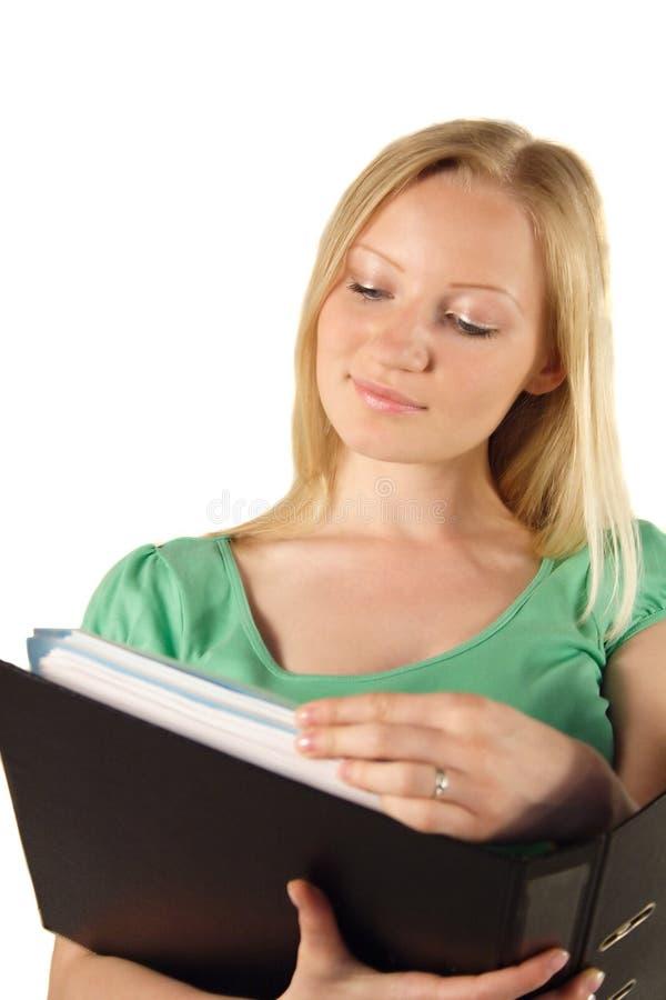 De lezing van de student stock fotografie