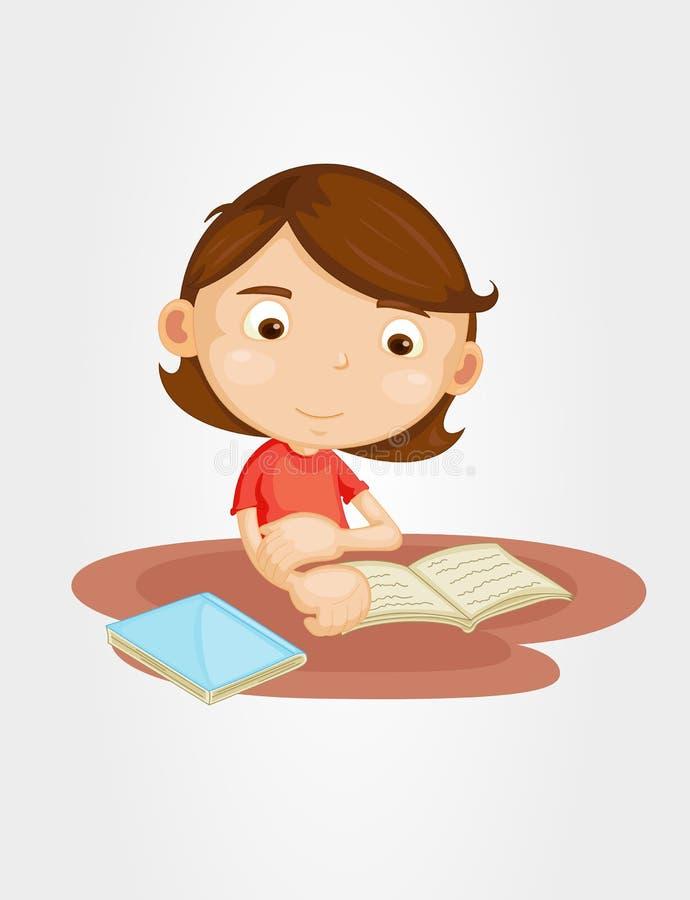 De lezing van het meisje stock illustratie