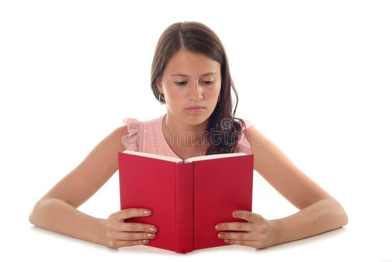 De lezingsboek van de vrouw royalty-vrije stock afbeeldingen