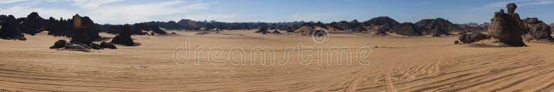 De Libische woestijn van de Sahara stock fotografie