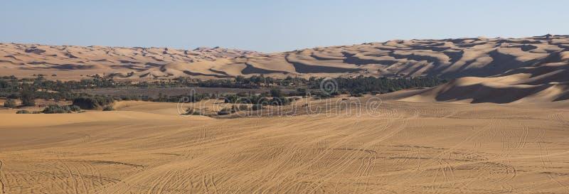De Libische woestijn van de Sahara stock foto