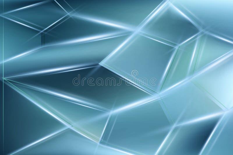 De lichtblauwe abstracte achtergrond van concepten veelhoekige technologie Moderne achtergrond voor ontwerp vector illustratie