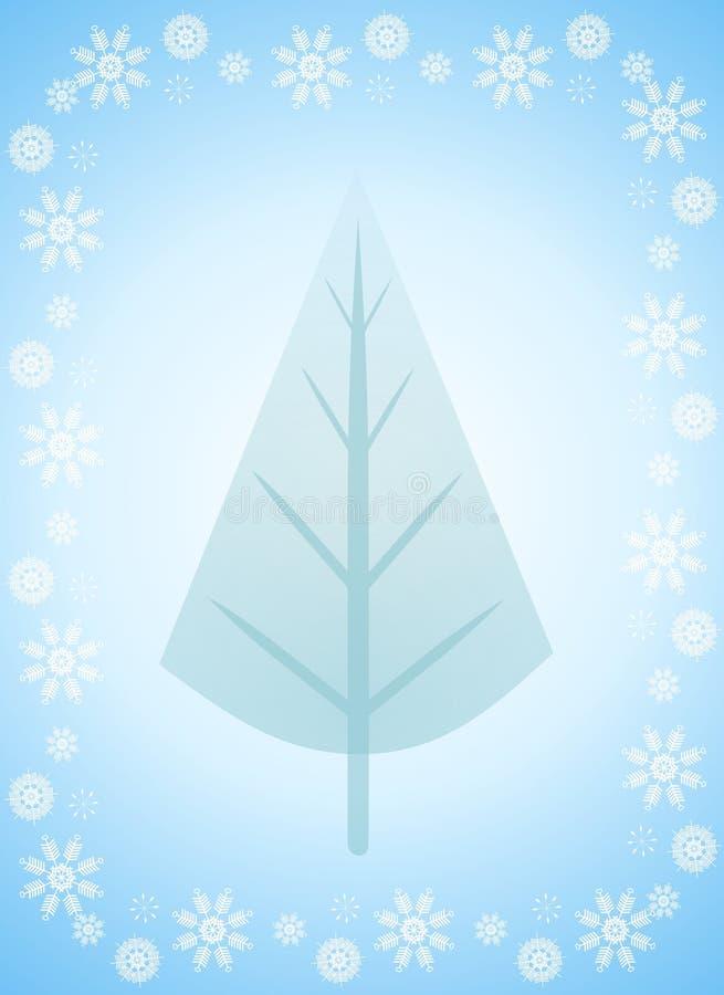 De lichtblauwe Kaart van de Kerstboom royalty-vrije illustratie