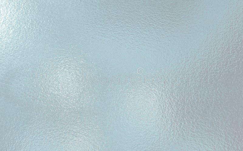 De lichtblauwe kleur berijpte achtergrond van de Glastextuur stock foto