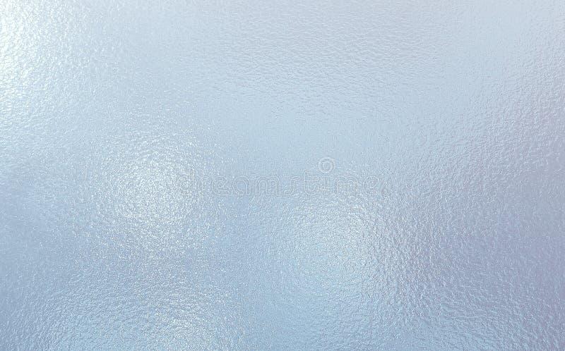De lichtblauwe kleur berijpte achtergrond van de Glastextuur royalty-vrije stock foto
