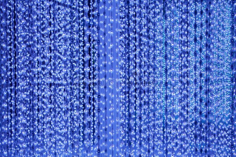 De lichtblauwe de neonlichtenachtergrond van bellenlijnen, samenvatting schittert helder licht, de afficheontwerp van de club fee stock illustratie