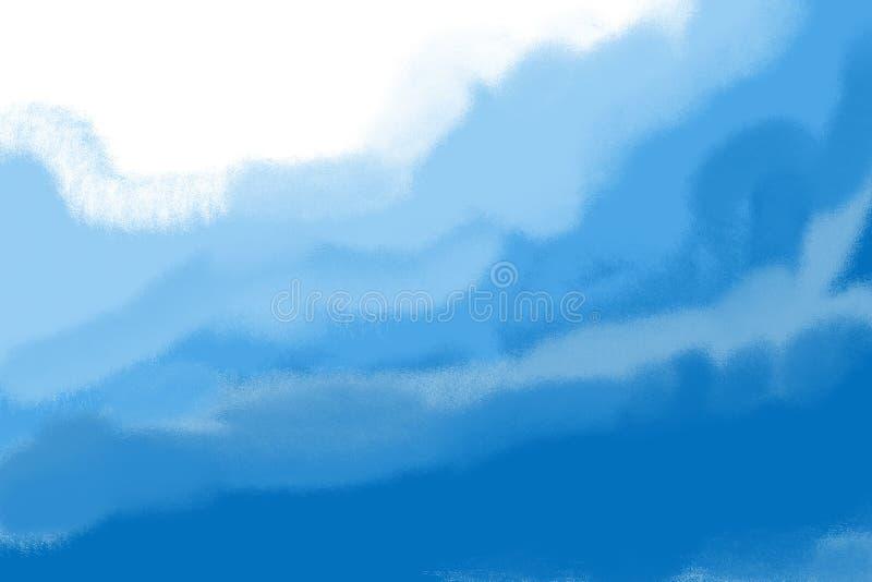 De lichtblauwe van de overzeese achtergrond golfillustratie royalty-vrije stock fotografie