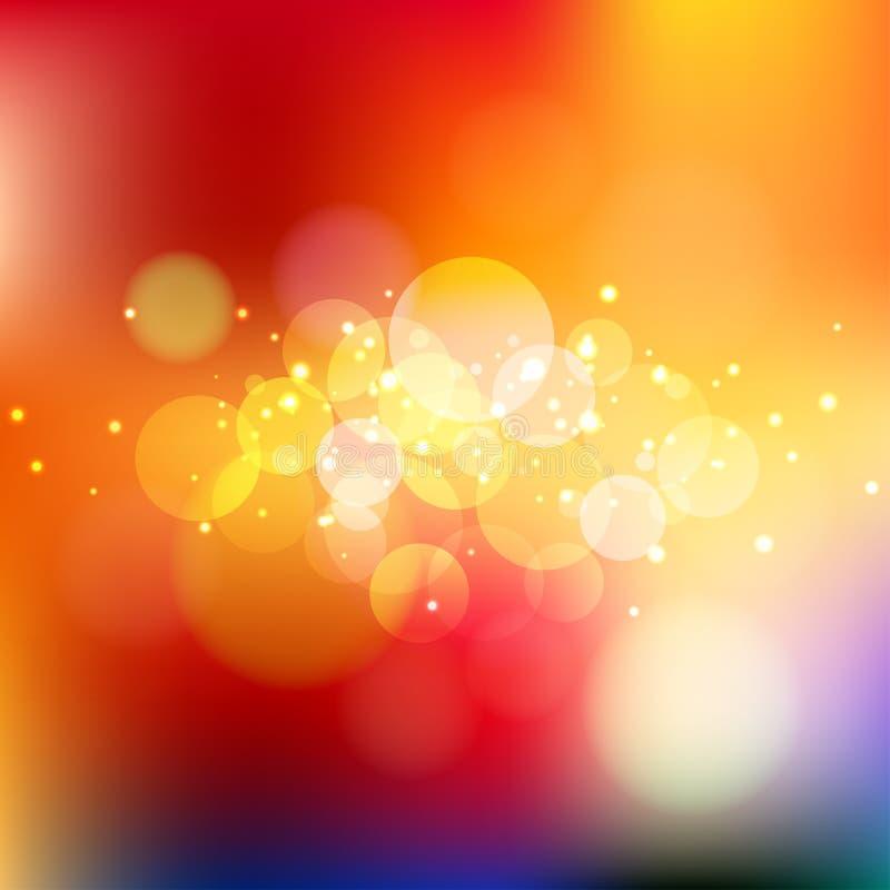 De lichte achtergrond van Bokeh Het Concept van Kerstmislichten Vector illustratie stock illustratie