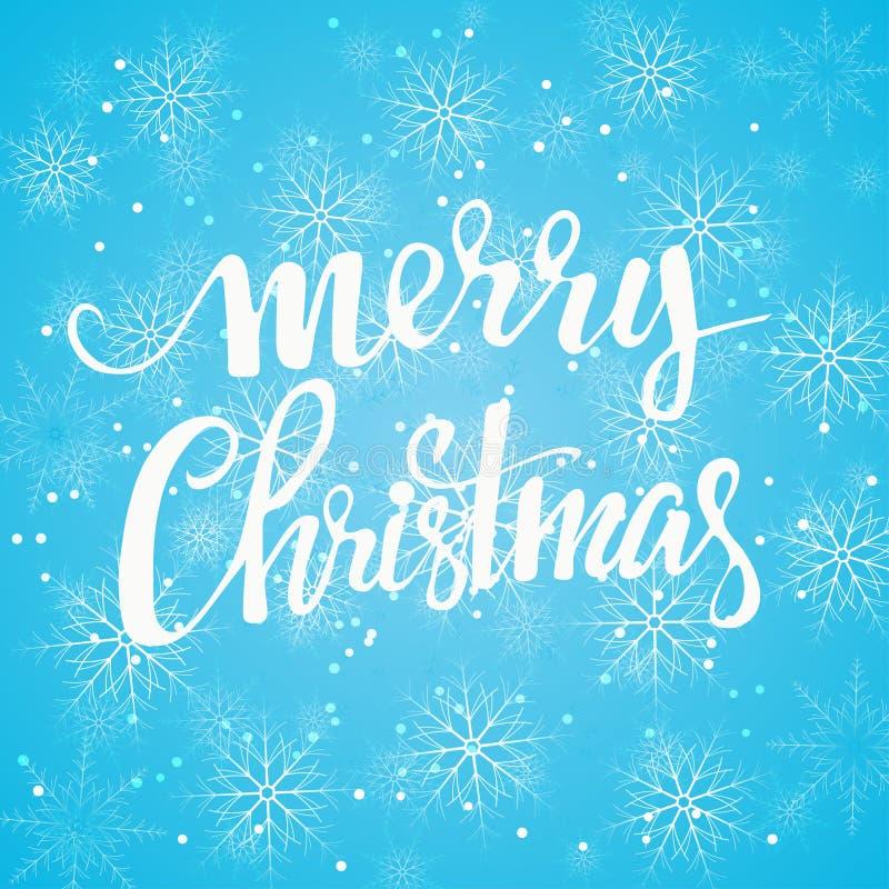 De lichte achtergrond van Kerstmissneeuwvlokken Vector illustratie royalty-vrije illustratie