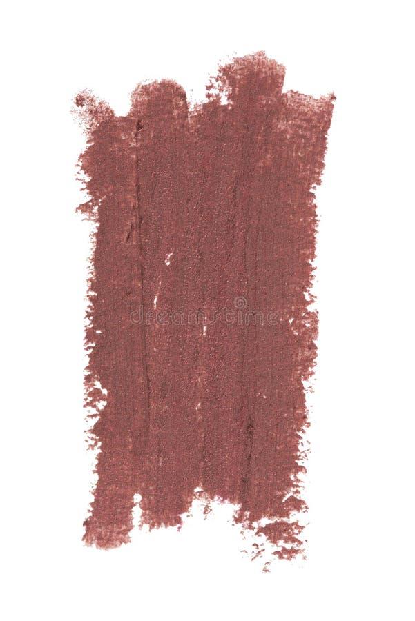 De lichte bleke het potloodslagen van de rode kleuren kosmetische die eyeliner met schitteren deeltjes, de steekproef van het sch stock foto's