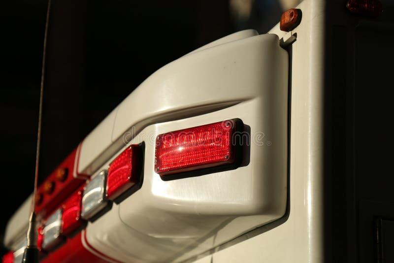 De lichte close-up van de ziekenwagenauto stock afbeelding