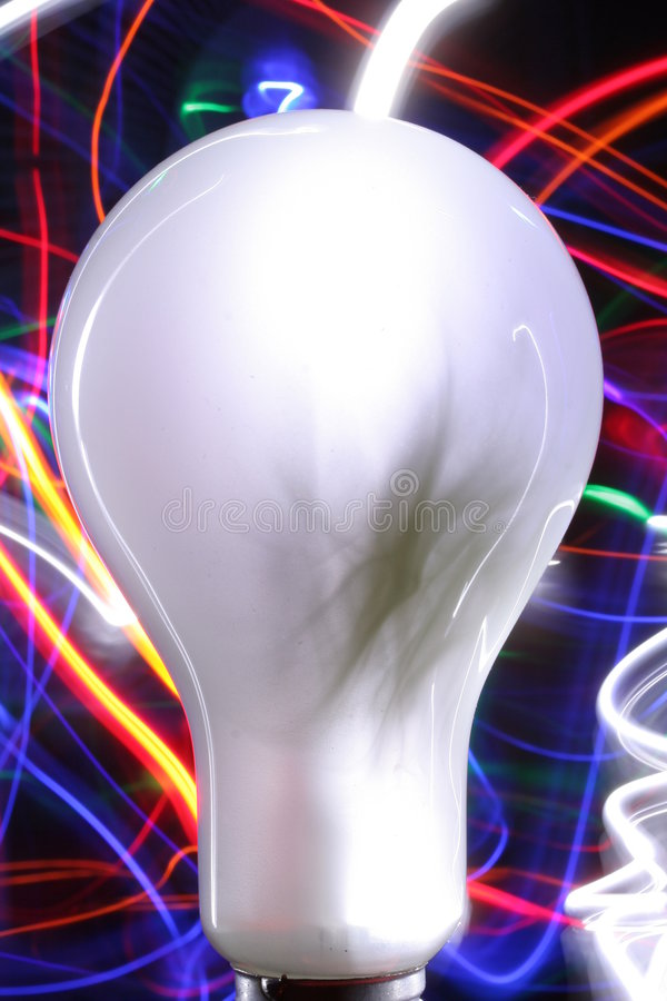 De lichte Gloeilamp van de Verf vector illustratie