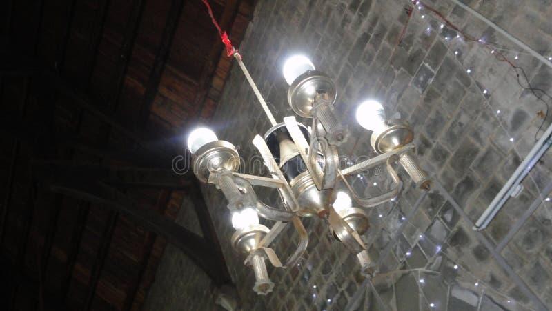 De lichte hoek van de kerkfotografie van lichten stock afbeeldingen