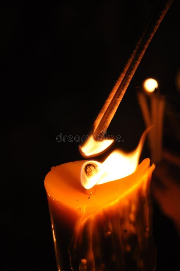 De lichte Kaars van de Wierook van de Brandwond royalty-vrije stock foto