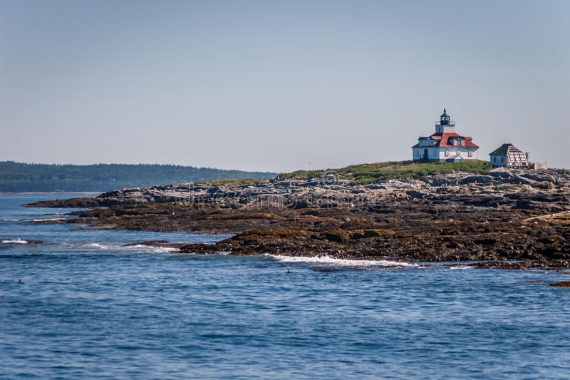De Lichte Post van de eirots - Maine stock foto