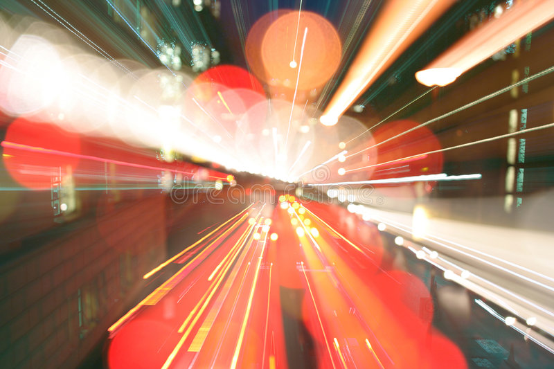 De lichte stormloop van Londen stock fotografie
