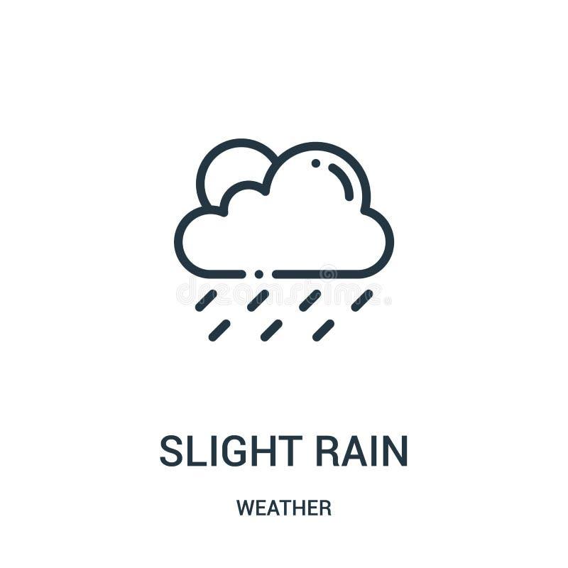 de lichte vector van het regenpictogram van weerinzameling De dunne van het het overzichtspictogram van de lijn lichte regen vect royalty-vrije illustratie