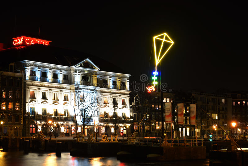 De Lichte Vlieger in Amsterdam royalty-vrije stock fotografie