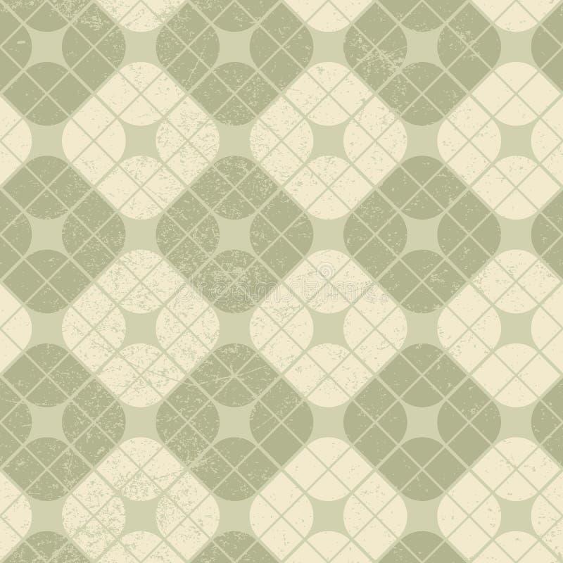 De lichte wijnoogst regelde naadloos patroon, vector geometrische abstrac stock illustratie