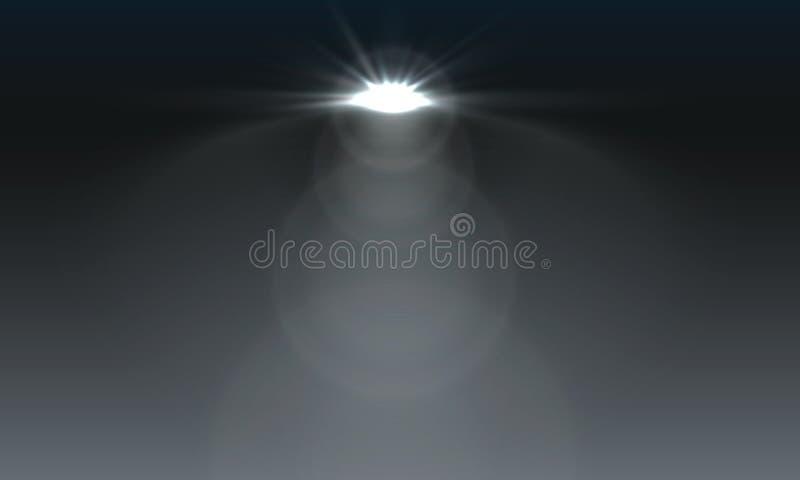 De lichteffecten van de schijnwerperssc?ne Vector van de stadium de lichte schijnwerper royalty-vrije illustratie