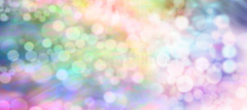 De lichten bokeh van de kleurentherapie zachte banner als achtergrond royalty-vrije illustratie