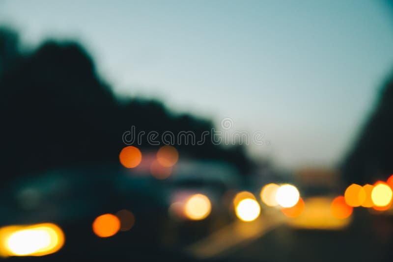 De lichten van de Blurednacht van auto's royalty-vrije stock foto