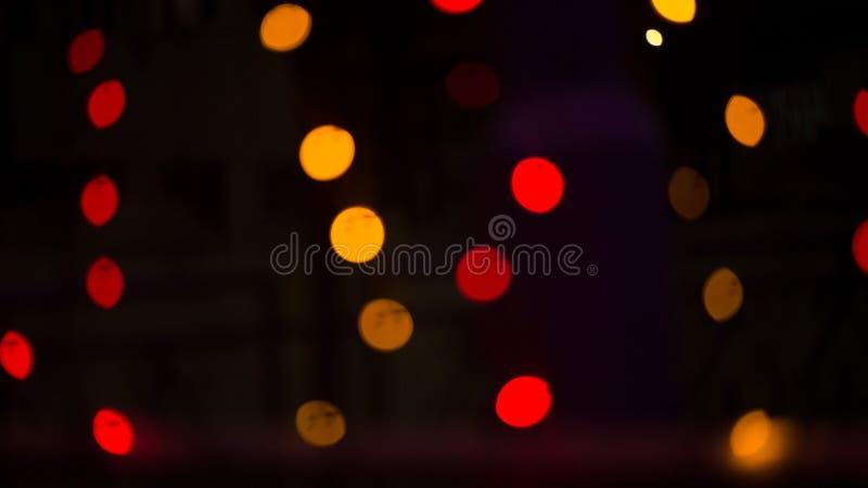 De lichten van Bokeh Mooie Kerstmisachtergrond en Nieuwjaar lichte Feestelijke samenvatting met royalty-vrije stock afbeeldingen