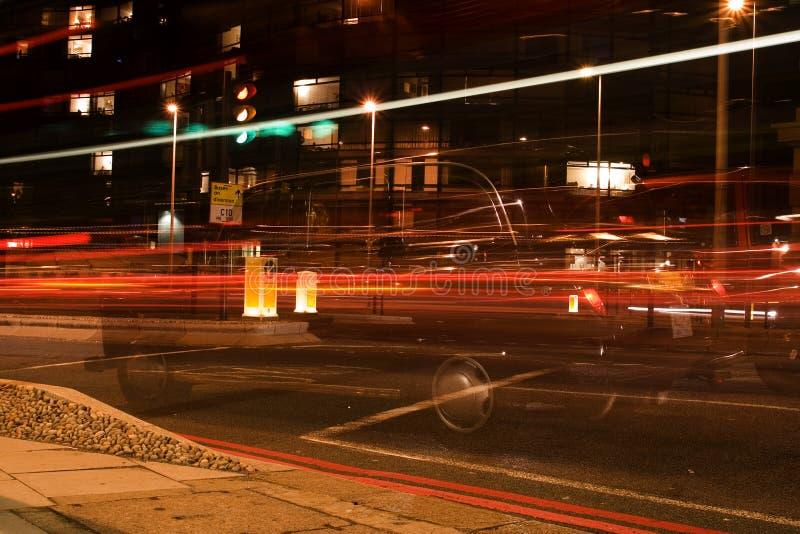 De Lichten van de auto stock foto