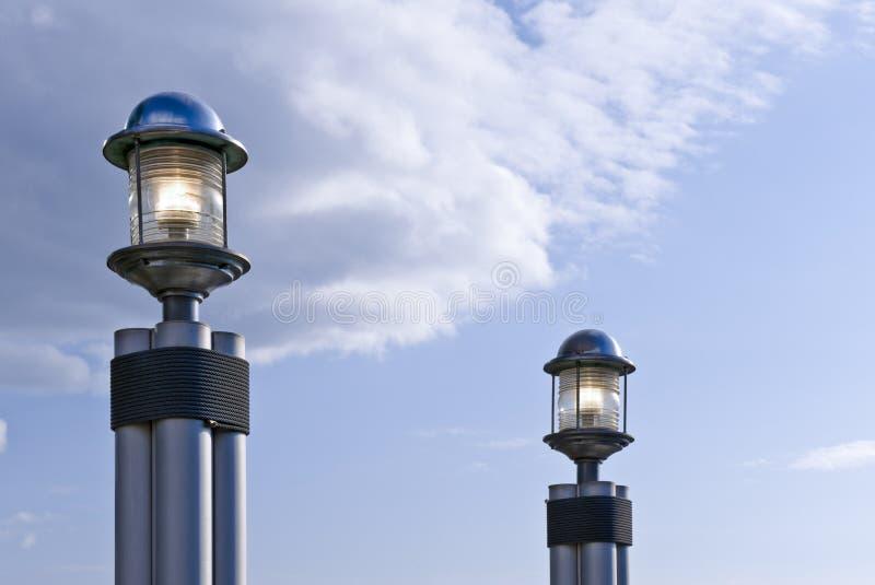 De lichten van de haven royalty-vrije stock fotografie