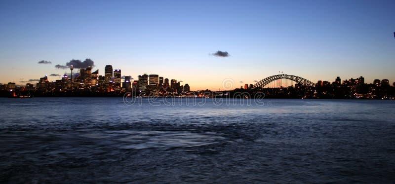De Lichten van de Haven van Sydney stock foto