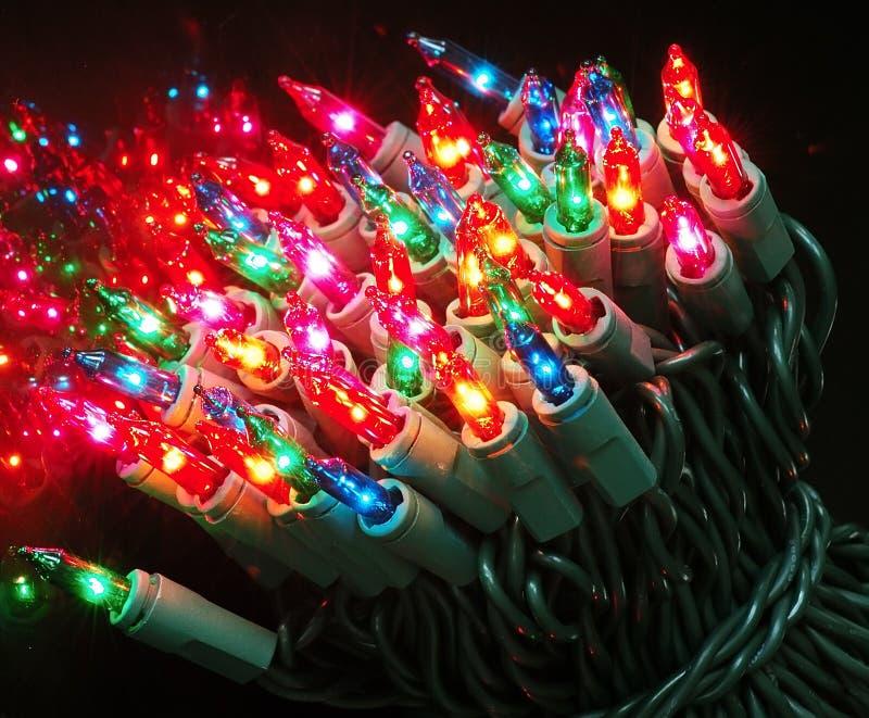 De Lichten van de kerstboom stock afbeeldingen