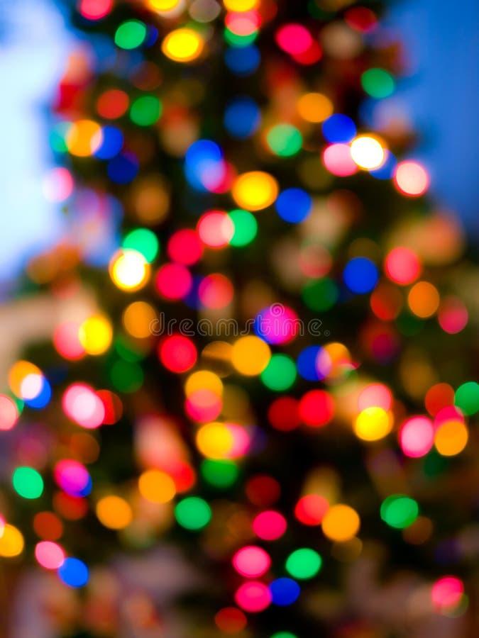 De lichten van de kerstboom