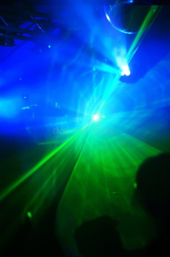 De lichten van de laser in een disco royalty-vrije stock foto's
