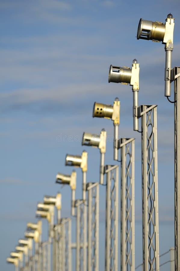 De lichten van de luchthaven royalty-vrije stock foto's